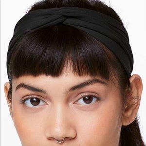 Lululemon Up All Night Black Headband